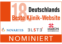 Nominiert bei Deutschlands beste Klinik Website 2020